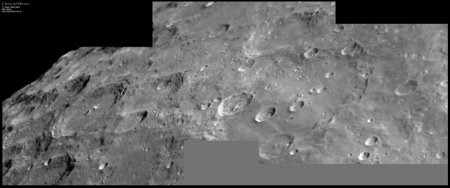 Clavius and Moretus - 3 frame mosaic. Click image to see full size.