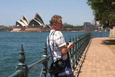 Tourist and the Opera house