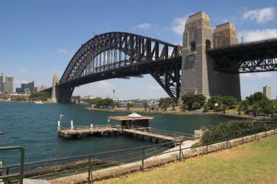 Sydney Harbour Bridge and Wharf from Cope's Lookout