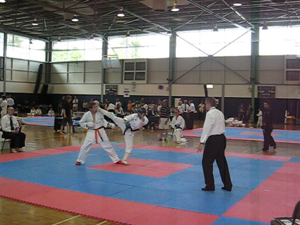 Receiving a Mawashi (roundhouse kick) to the head