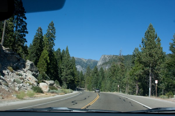 A really beautiful drive up to Lake Tahoe