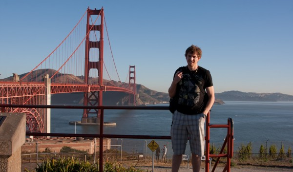 Mike at the Golden Gate Bridge