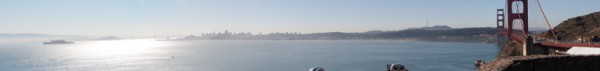 San Fracisco and the Golden Gate Bridge Panorama