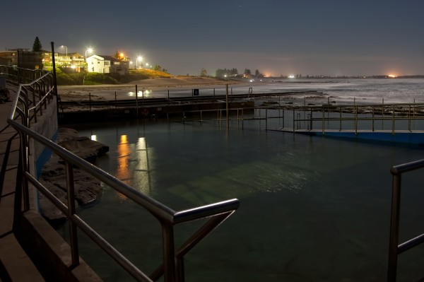 Entrance Beach Pool under Moon Light
