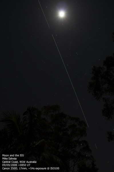 The Moon and the ISS