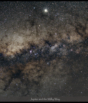 Jupiter in the Milky way