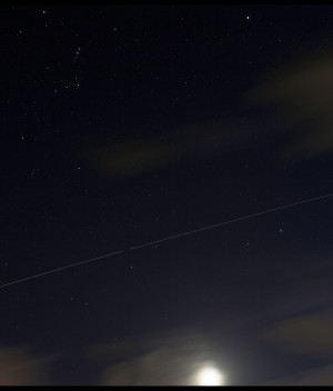 Moon, Orion and the ISS