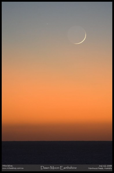 Dawn Moon Earthshine