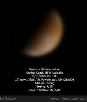Venus in UV False Colour
