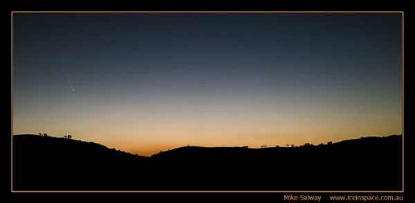 Comet McNaught, the Crescent Moon and Venus
