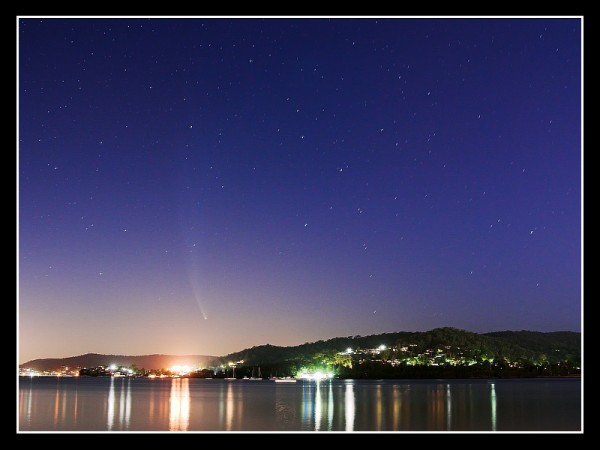 Comet McNaught amongst the light pollution in Gosford and Woy Woy