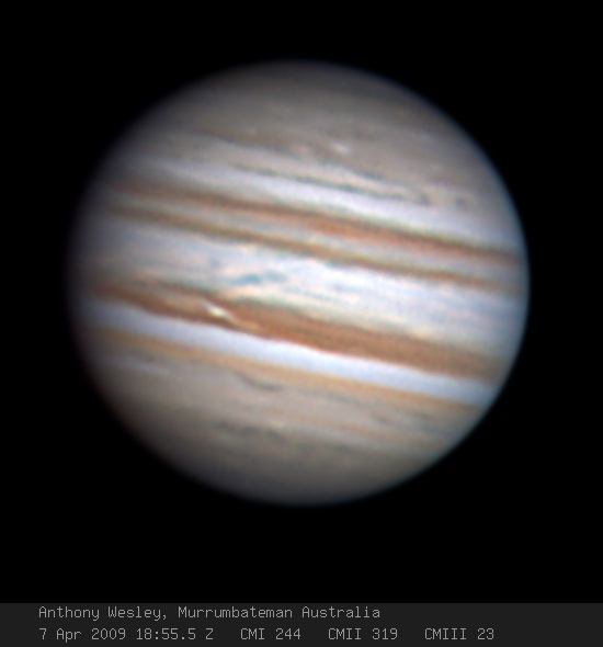 Jupiter with NEB Outbreak by Anthony Wesley