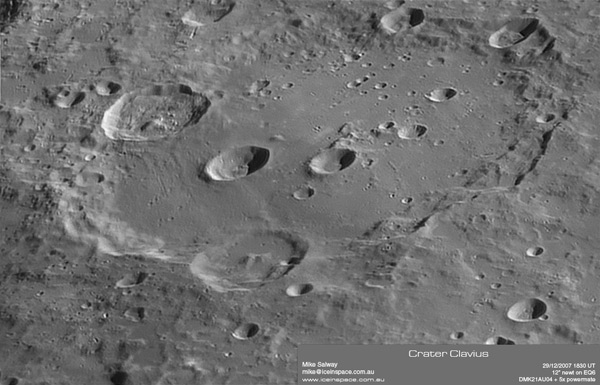 High Resolution Clavius - by Mike Salway