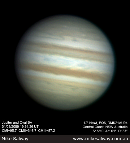 Jupiter and Oval BA