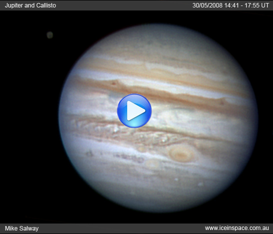Jupiter + Callisto in Transit Animation. Click to Play.