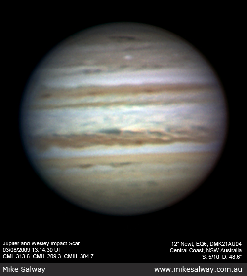 Jupiter and the Wesley Impact Scar
