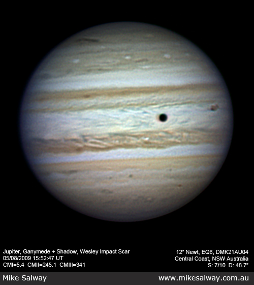 Jupiter, Ganymede and Shadow