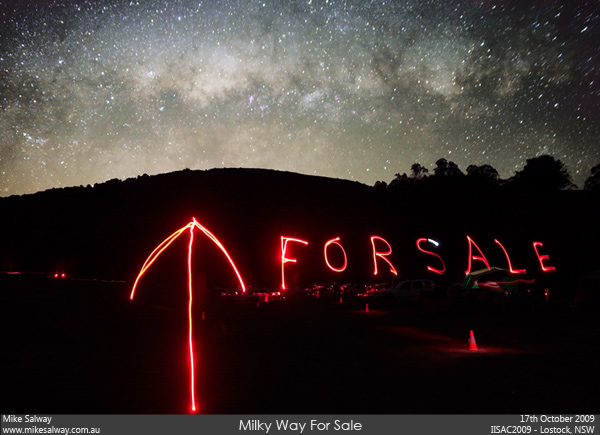 Milky Way For Sale. Click image for 1200px wide version.