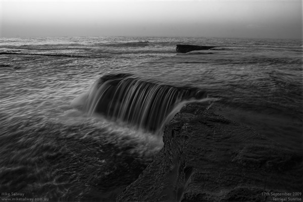 Black and White Waterfall. Click image for larger version.