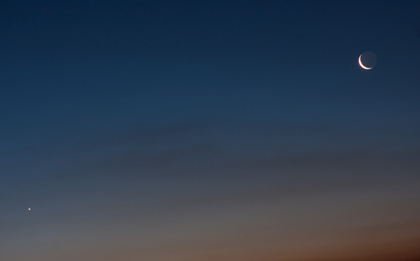 Moon and Venus Conjunction at Twilight