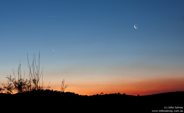 Moon and Venus Conjunction at Mudgee