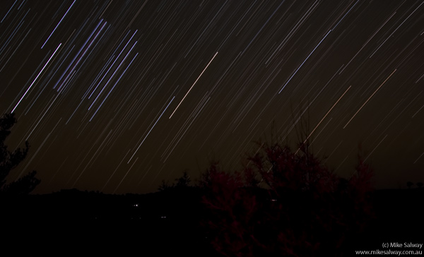 Trails of Orion Setting in the West