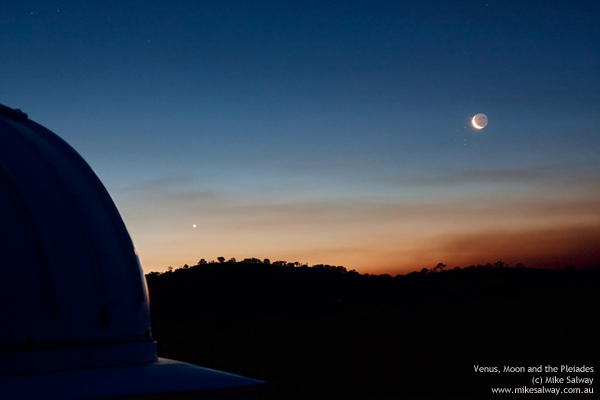 Venus, Moon and Pleiades Conjunction