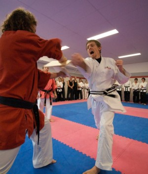 Breaking the Board at my Black Belt Grading