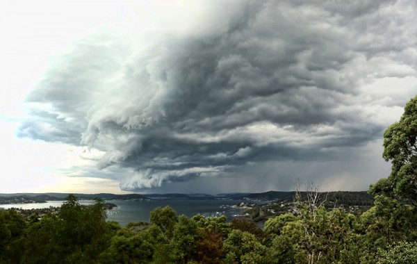 Storm Cell over Sydney, 4 image panorama