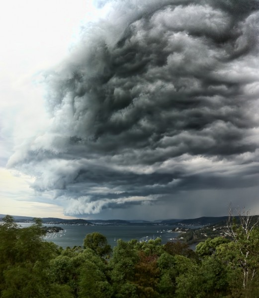 Storm Cell over Sydney, 3 image vertical panorama