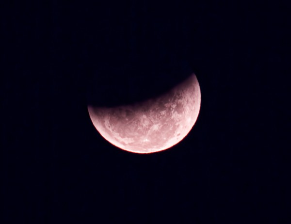Partially Eclipsed Moon