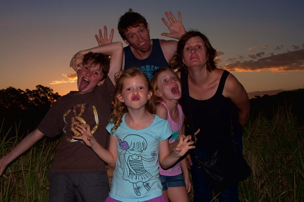 The Salway Family, being silly!