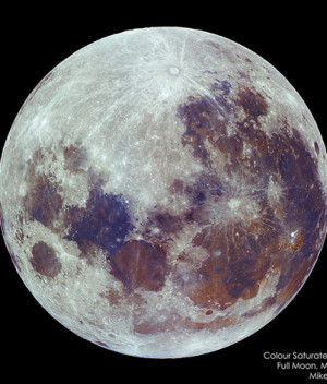 May 2011 Full Moon in Saturated Colour