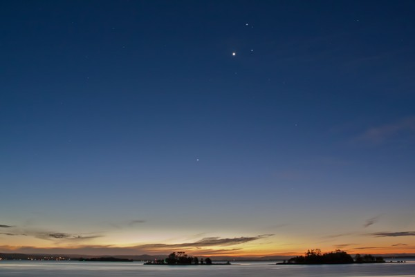 Four Planet Conjunction, August 2010