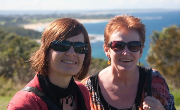 My wife Kate and my Mum Anne