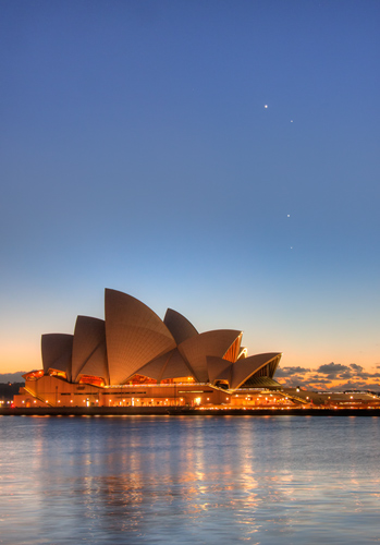 Sydney Opera House and Conjunction at Dawn