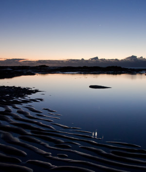 Planetary Reflections at Bateau Bay Beach