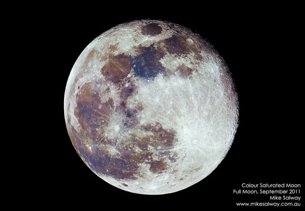 Colour Saturated Full Moon