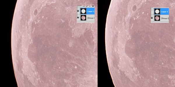 The image on the left is after pasting the soft limb, the image on the right is the original