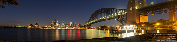 Sydney at Dawn, Pre-Dawn Panorama