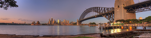 Sydney at Dawn Panorama 2