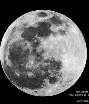 December Full Moon Before the Lunar Eclipse