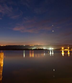 Venus and Jupiter Conjunction at Gosford Waterfront