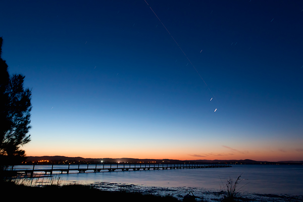 Venus, Jupiter and the International Space Station