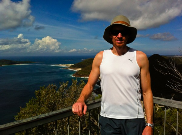 Mike at the top of Mount Tomaree