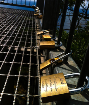 Padlocks at the Summit of Mount Tomaree