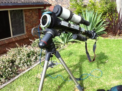 ED80 and white light solar filter, with Canon 5D Mk II