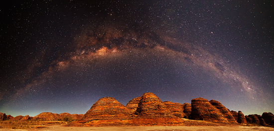 Arching Milky Way over the Bungle Bungles