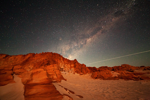 Shooting Star and the Milky Way over Cape Leveque
