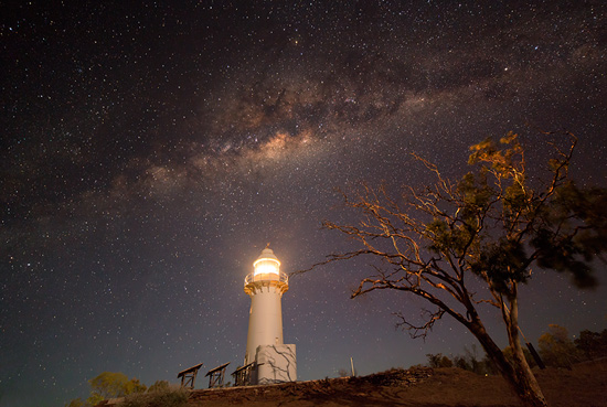 Milky Way above Cape Leveque Lighthouse